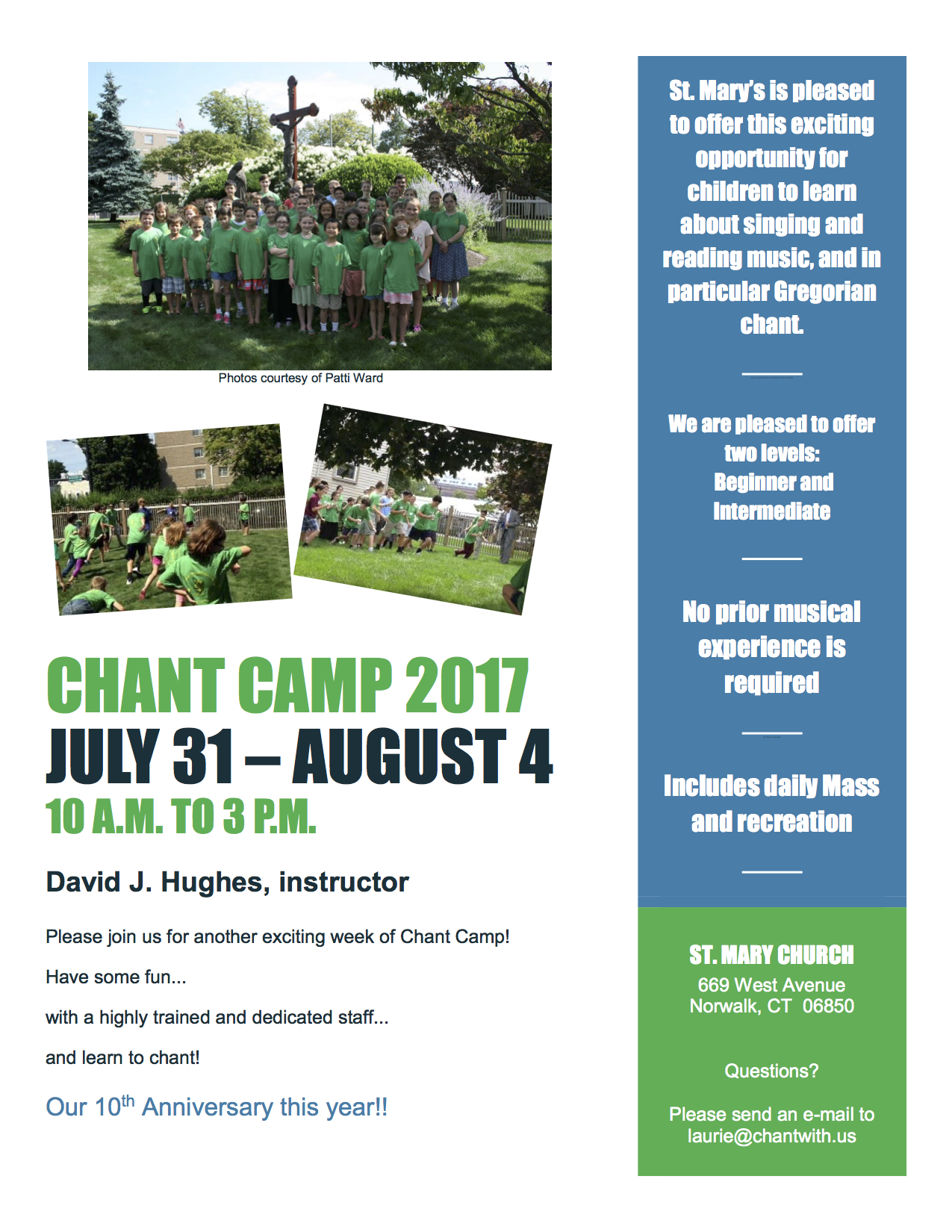 Chant Camp 2017 Flyer