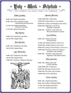 Holy Week Schedule2017