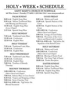 Holy Week Schedule 2018-corrected