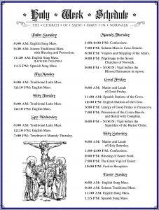 Holy Week Schedule2017