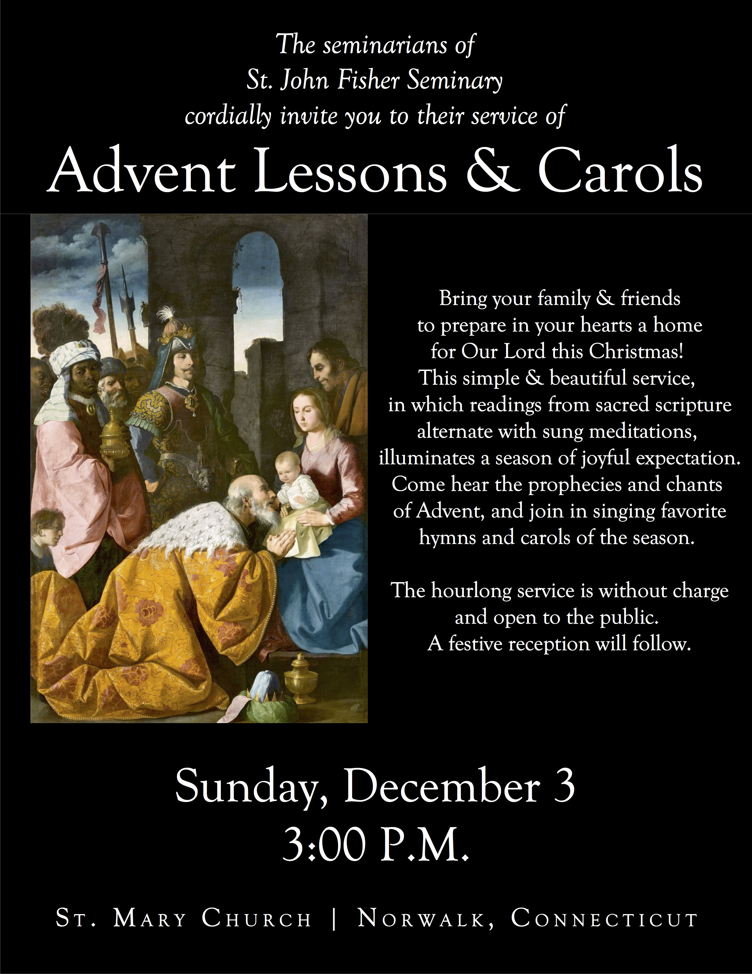 SJF Lessons and Carols poster - 03 December 2017